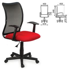 """Кресло BRABIX """"Spring MG-307"""", с подлокотниками, комбинированное красное/черное, TW"""