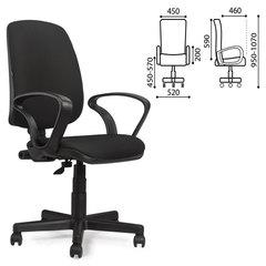 """Кресло BRABIX """"Basic MG-310"""", с подлокотниками, черное, JP"""