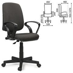 """Кресло BRABIX """"Basic MG-310"""", с подлокотниками, серое JP-15-1, 531410"""