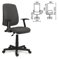 """Кресло BRABIX """"Basic MG-310"""", с подлокотниками, серое, KB"""