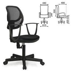"""Кресло BRABIX """"Flip MG-305"""", до 80 кг, с подлокотниками, черное, TW"""