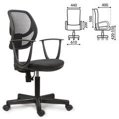 """Кресло BRABIX """"Flip MG-305"""", до 80 кг, с подлокотниками, черно-серое"""