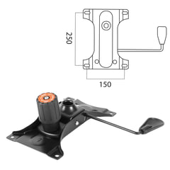 """Механизм качания для кресла, """"Top-Gun"""", межцентровое расстояние крепежа 150х250 мм"""