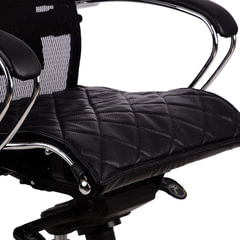 """Накладка на сиденье для кресла """"SAMURAI"""", кожа, черная"""