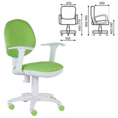 Кресло оператора CH-W356AXSN с подлокотниками, светло-зеленое, пластик белый