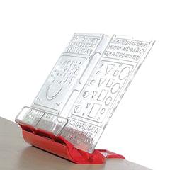 "Подставка для книг ДЭМИ ""Трафарет"", пластиковая, красная"