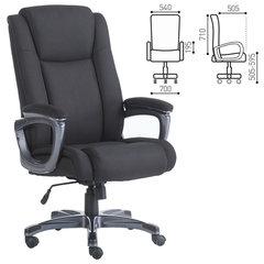 """Кресло офисное BRABIX PREMIUM """"Solid HD-005"""", НАГРУЗКА до 180 кг, ткань, черное"""