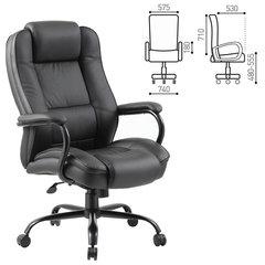 """Кресло офисное BRABIX PREMIUM """"Heavy Duty HD-002"""", усиленное, НАГРУЗКА до 200 кг, экокожа, 531829"""