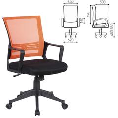 """Кресло BRABIX """"Balance MG-320"""", с подлокотниками, комбинированное черное/оранжевое"""