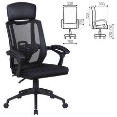 """Кресло офисное BRABIX """"Nexus ER-401"""", синхромеханизм, подголовник, черное, 531835"""