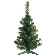 Ель настольная искусственная, 30 см, зеленая, ПВХ
