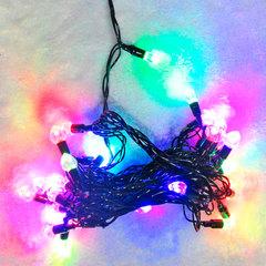 """Электрогирлянда светодиодная """"Сердца"""", 40 ламп, 5 м, многоцветная"""