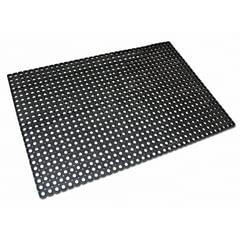 Коврик входной резиновый крупноячеистый грязезащитный 50х100 см, толщина 22 мм, черный, VORTEX