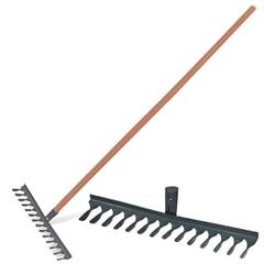 Грабли классические витые, 14 зубьев, ширина 42 см, деревянный черенок 120 см