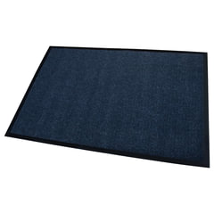 Коврик входной ворсовый влаго-грязезащитный FLOORTEX, 80х120 см, ворс 4,5 мм, основа 2,5 мм, темно-синий