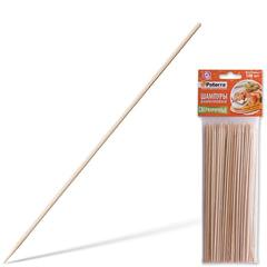 Шампуры для шашлыка PATERRA, КОМПЛЕКТ 100 шт., 200 мм, d=3 мм, бамбуковые