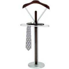 Вешалка-стойка костюмная СН-4089, 1080х450х300 мм, металл/дерево, темный орех/серебро