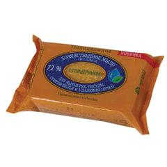 """Мыло хозяйственное 72%, 150 г (ЭФКО) """"Традиционное"""", с глицерином, в упаковке"""