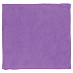 Салфетка для стекол и зеркал, гладкая микрофибра, 30х30 см, фиолетовая, ЛАЙМА