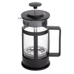 """Заварник (френч-пресс) ЛАЙМА """"Утро"""", 350 мл, жаропрочное стекло/пластик, черный"""