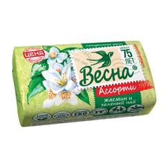 """Мыло туалетное 90 г, ВЕСНА """"Жасмин и зелёный чай"""""""