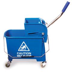 Тележка-ведро уборочная BRABIX, 20 л, механический отжим, синяя