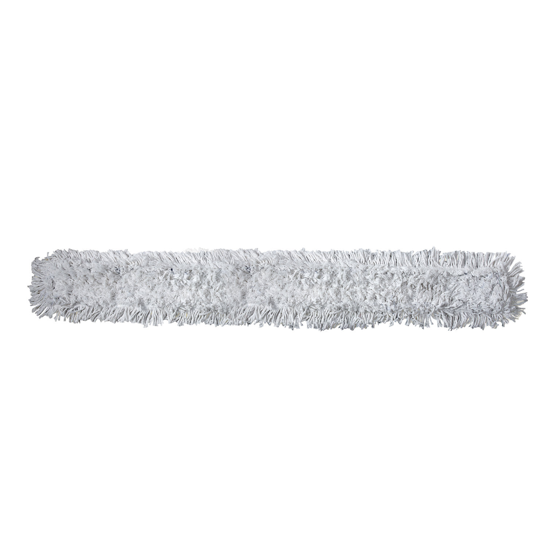 Насадка МОП плоская 100 см для цельной швабры-рамки, завязки, хлопок, держатель 601506, ЛАЙМА PROFESSIONAL, 601511