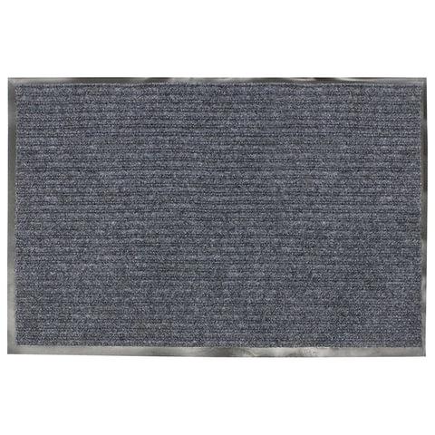 Коврик входной ворсовый влаго-грязезащитный VORTEX, 60х40 см, толщина 7 мм, серый