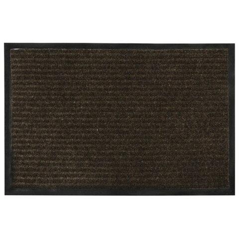 Коврик входной ворсовый влаго-грязезащитный VORTEX, 60х40 см, толщина 7 мм, коричневый