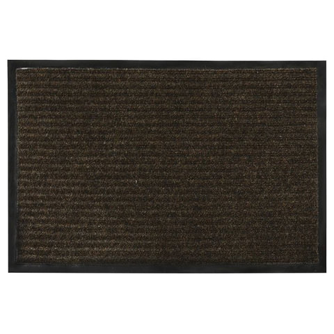 Коврик входной ворсовый влаго-грязезащитный VORTEX, 90х60 см, толщина 7 мм, коричневый