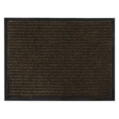 Коврик входной ворсовый влаго-грязезащитный VORTEX, 90х120 см, толщина 7 мм, коричневый