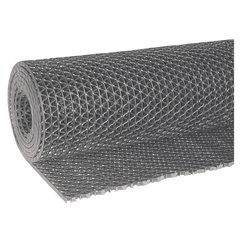 """Коврик входной противоскользящий VORTEX """"Zig-Zag"""", 90х1000 см, толщина 5 мм, ПВХ, серый"""