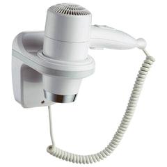 Фен для волос, стационарный, настенный KSITEX F-1800 W, 1800 Вт, пластик с металлом, белый