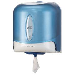 Диспенсер для полотенец/бумаги TORK (Система M4) Reflex, с центральной вытяжкой, голубой, 473133