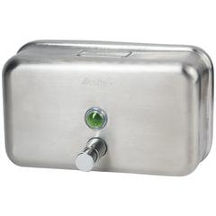 Диспенсер для жидкого мыла KSITEX, наливной, нержавеющая сталь, матовый, 1,2 л