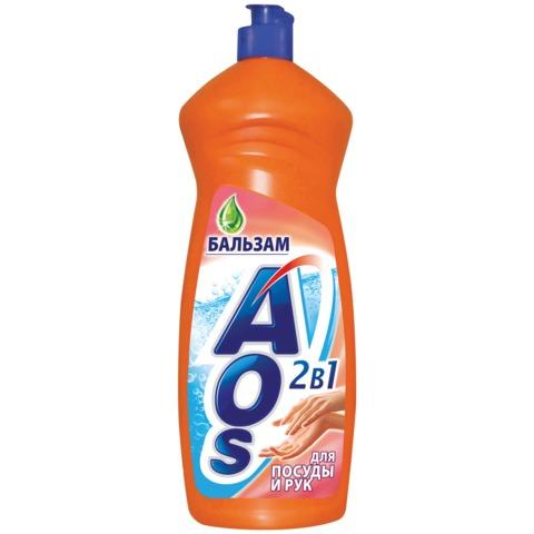 "Средство для мытья посуды 1 л, AOS ""Бальзам"""
