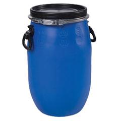 Бочка 30 л, OpenTop, полиэтилен (ПЭНД), крышка с хомутом, диаметр 253 мм, для пищевых и химических продуктов