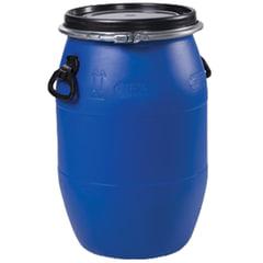 Бочка 65 л, OpenTop, полиэтилен (ПЭНД), крышка с хомутом, диаметр 323 мм, для пищевых и химических продуктов