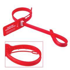 """Пломбы мешковые номерные """"ДРАКОН-М"""" (тип """"АКУЛА-М""""), длина рабочей части 340 мм, красные, комплект 1000 шт."""