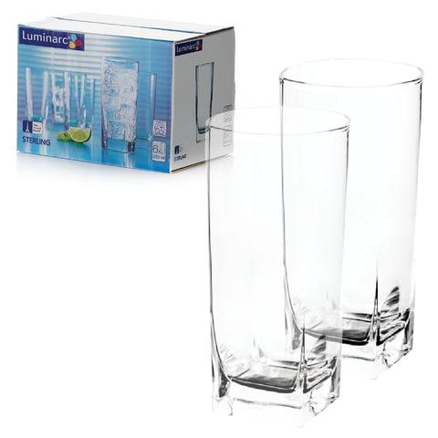 """Набор посуды """"Sterling"""", стаканы для сока/виски, 6 шт., 330 мл, высокие, стекло, LUMINARC"""