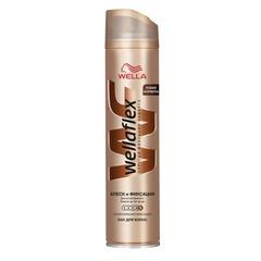 """Лак для волос 250 мл, WELLAFLEX (Веллафлекс) """"Блеск"""", суперсильная фиксация"""
