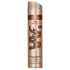 """Лак для волос 400 мл, WELLAFLEX (Веллафлекс) """"Блеск"""", суперсильная фиксация"""