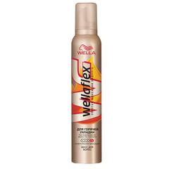 """Мусс для волос 200 мл, WELLAFLEX (Веллафлекс) """"Горячая укладка"""", суперсильная фиксация"""