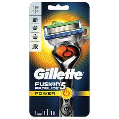 """Бритва GILLETTE (Жиллет) """"Fusion ProGlide Power"""", с 1 сменной кассетой, для мужчин"""