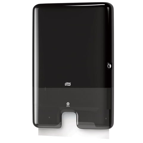 Диспенсер для полотенец TORK (Система H2) Xpress, Multifold, черный, 552008