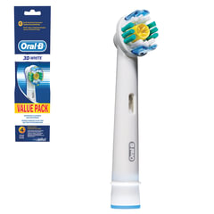 Насадки для электрической зубной щетки ORAL-B (Орал-би) 3D White EB18, комплект 4 шт.