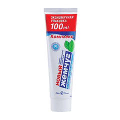 Зубная паста 100 мл, НОВЫЙ ЖЕМЧУГ, комплексная защита от кариеса, с сильным ароматом мяты