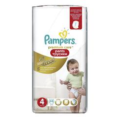 Подгузники-трусики 44 шт., PAMPERS (Памперс) Premium Care Pants, размер 4 (9-14 кг)