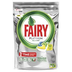"""Капсулы для мытья посуды в посудомоечных машинах, 50 шт. FAIRY (Фейри) All in 1, """"Лимон"""""""