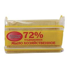 """Мыло хозяйственное 72%, 150 г (Меридиан) """"Традиционное"""", в упаковке"""